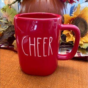 """NEW Rae Dunn Red """"CHEER"""" Christmas Mug"""
